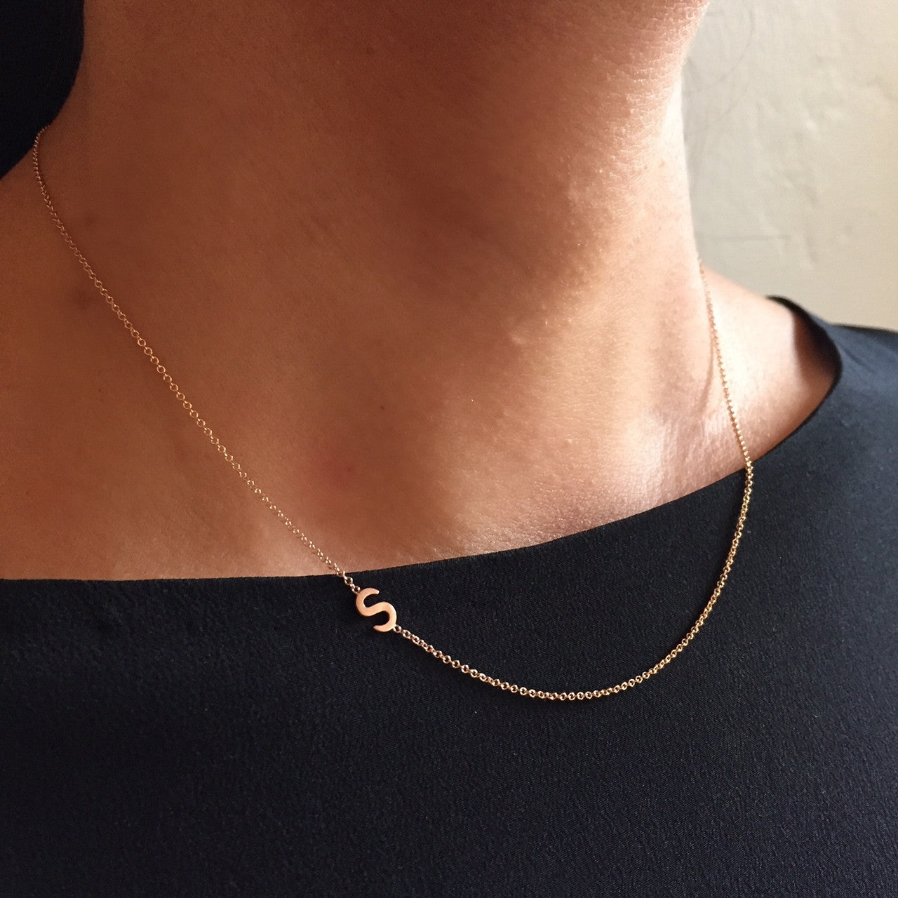 Initial Necklace - Asymmetrical