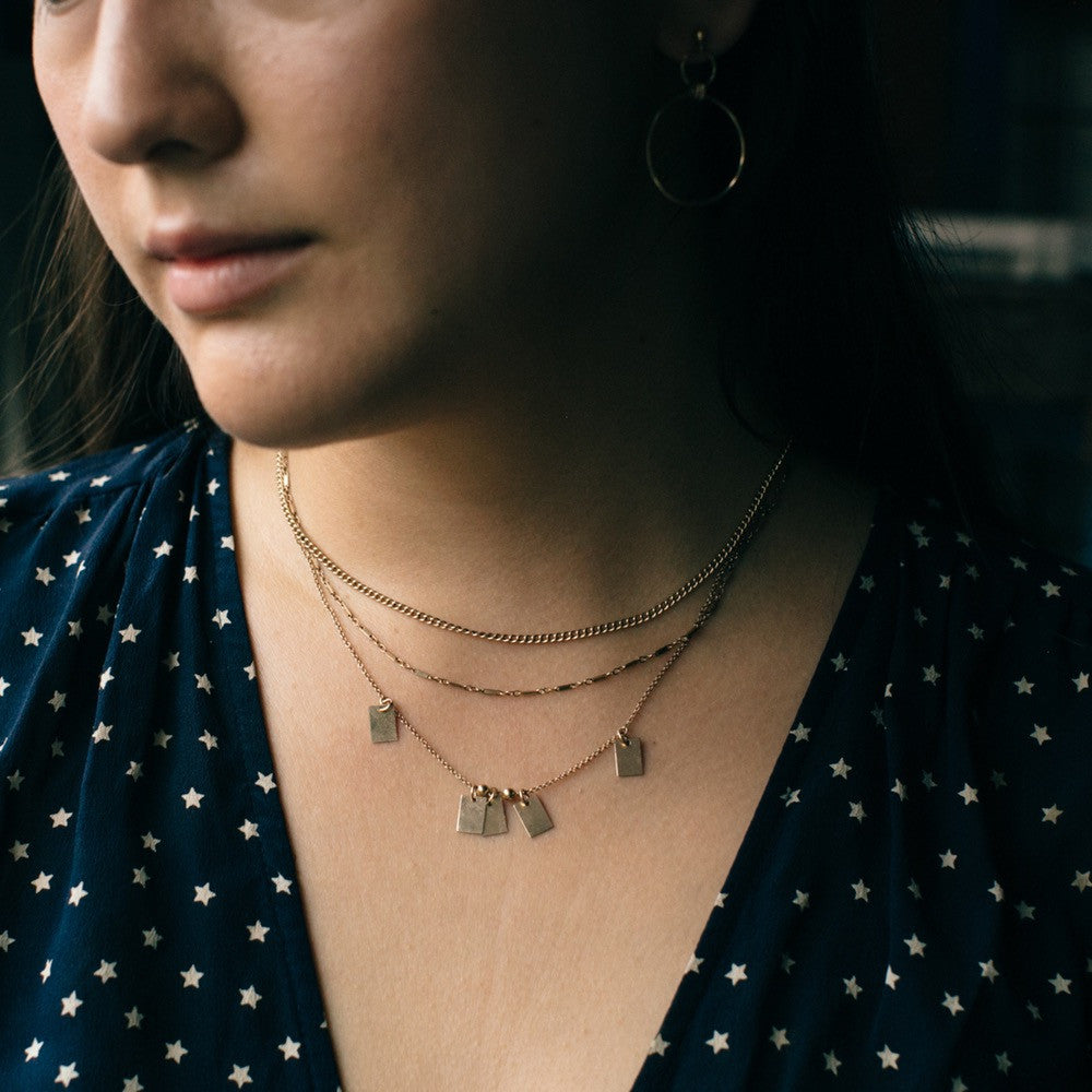 Wind & Water Necklace - Gold or Silver