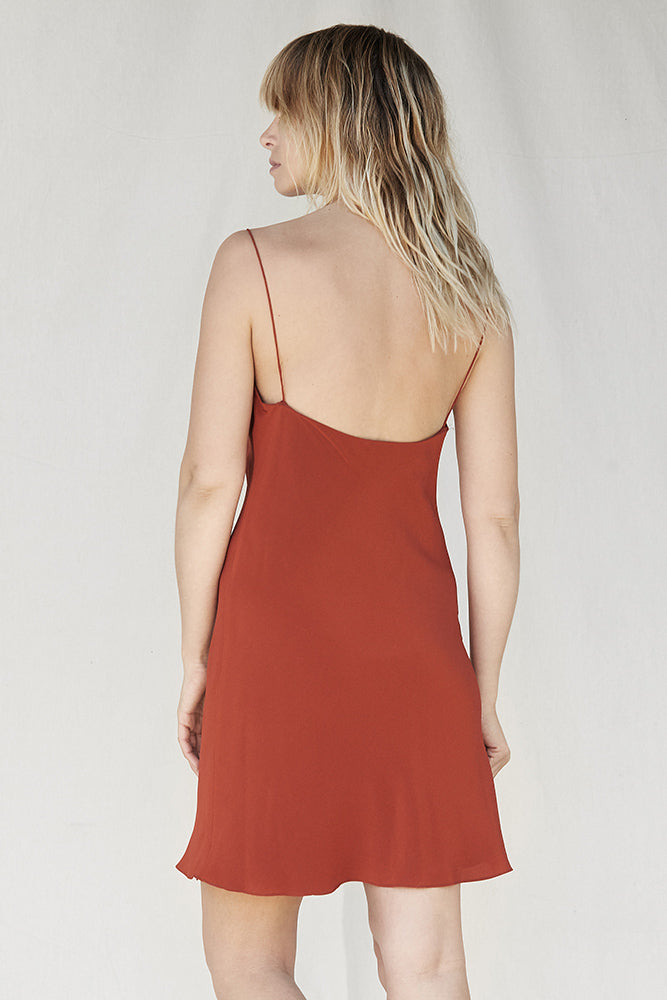 Mini Silk Slip - Rust