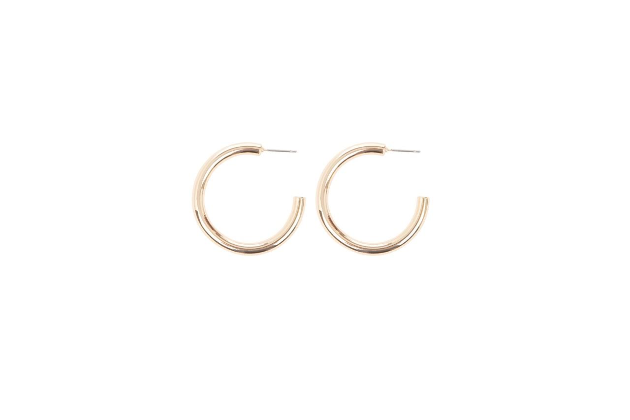 Valentine Hoops - Gold