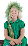 Green Fairy Enchantress Frilly Headband with Streamers Costume Party Set Womens Girls Dress Up Halloween Elope