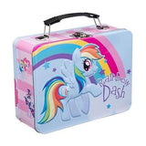 New My Little Pony Metal Lunchbox Tin Tote Carry-All Vandor Rainbow Dash Blue Lunch Box