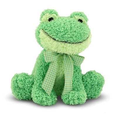 Green Frog with Gribbit Sound Meadow Medley Plush Stuffed Animal Toy * Baby Safe * by Melissa & Doug