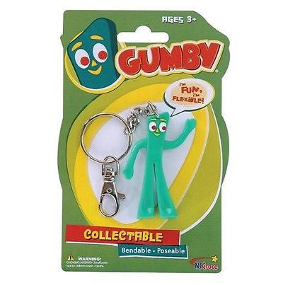 Gumby Bendable Key Chain Collectible Figure by NJ Croce