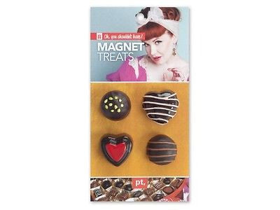 4 Piece Chocolate Candy Magnet Set