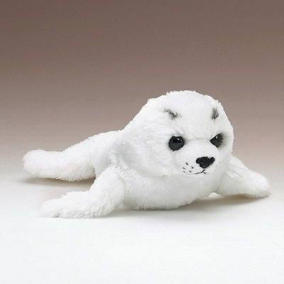 Arctic White Harp Seal Pup 15 inch Stuffed Animal Plush Toy by Wildlife Artists