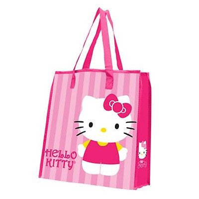 Hello Kitty Large Reuseable Shopping Bag Pink Cat Anime Girls Gift