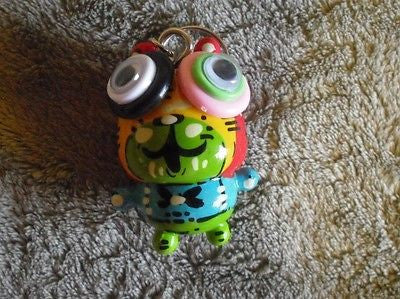 New Unique Wood Keychain #15 Backpack Hanger Handmade Handpainted Figure Toy