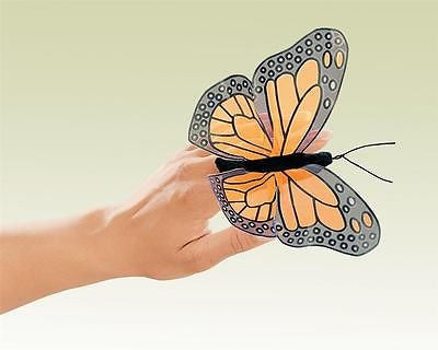 Orange Monarch Butterfly Animal Finger Puppet by Folkmanis Puppets