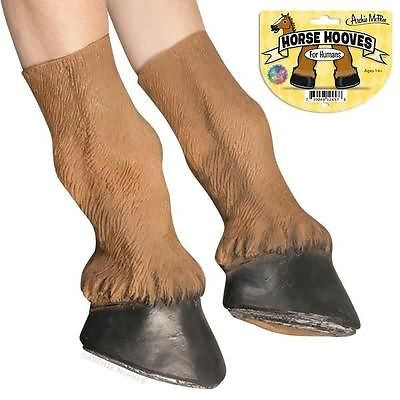 Horse Costume Party Hooves Novelty Gloves Accessories Archie McPhee Accoutrements Accessory Pony Brown