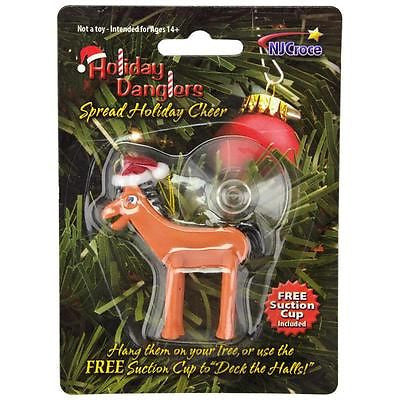 Pokey Santa Christmas Tree Holiday Ornament Toy Gift Decoration XMAS Gumby Horse Animal Pony
