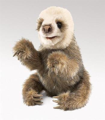 Baby Sloth Hand Puppet Plush Stuffed Toy Animal by Folkmanis Puppets