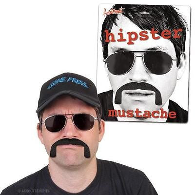 Hipster Mustache Facial Hair Costume Accessory Beard Mustache Halloween Biker by Accoutrements