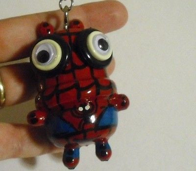 New Unique Wood Keychain #3 Backpack Hanger Handmade Handpainted Figure Toy Gift