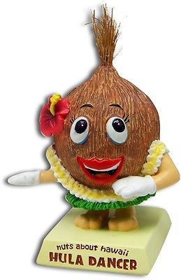 Coconut Hula Dancer Dashboard Doll Bobblehead * Nuts About Hawaii * Car Dash