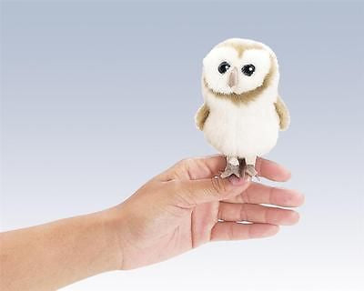 Barn Owl Animal Finger Puppet Plush Bird Toy by Folkmanis Puppets