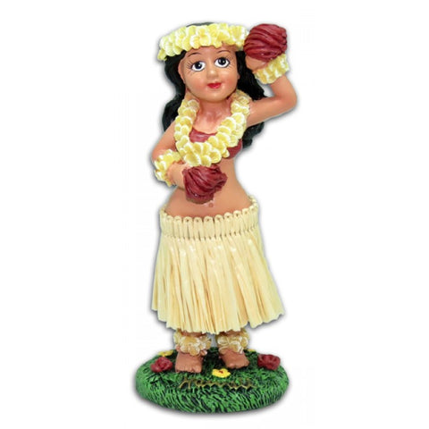 Hawaiian Hula Girl with Tassels Dashboard Doll Hawaii Toy Car Dash Lei