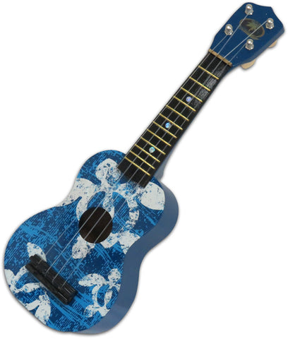 Blue Ukulele Guitar Honu Sea Turtle Hawaii Hula Polynesian Dance Hawaiian