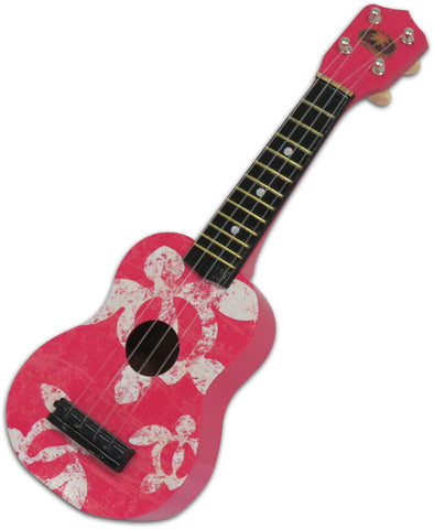 Pink Ukulele Guitar Honu Sea Turtle Hawaii Hula Polynesian Dance Hawaiian
