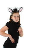 Zebra Costume Kit Ears and Tail Set Party Halloween Headband by Elope Plush Animal Dress Up Kit