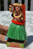 Retro-Style Dancing Hula Girl with Uli Uli Dashboard Doll