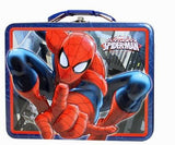 New Spider-Man Tin Tote Metal Snack Box Gift Toy Carry all Container Spider Man