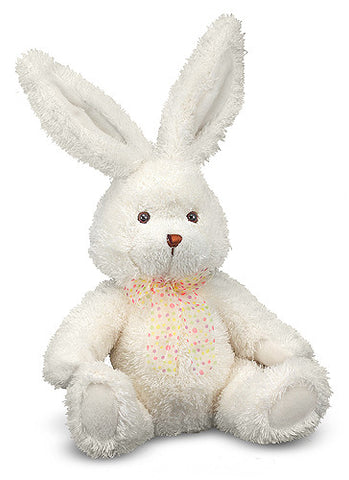 """ Brenna "" Bunny Rabbit White Plush Stuffed Baby Easter Toy Melissa & Doug"