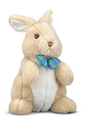 """Propper"" Bunny Rabbit Bow Tie Plush Stuffed Animal Baby Toy Melissa & Doug"