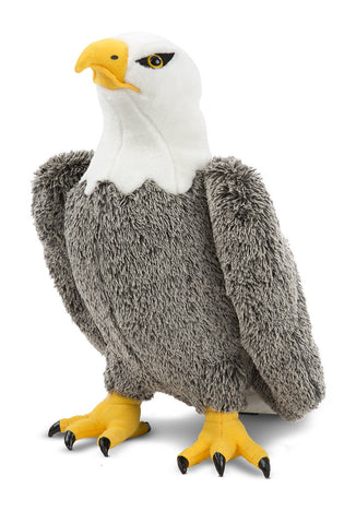 "Bald Eagle Lifelike Bird 17"" Plush Stuffed Animal Kids Toy Melissa & Doug"