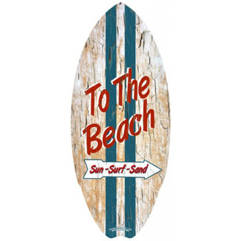 Hawaiian Mini Surfboard Wooden Beach Plaque C-Ya Cali Surf Beach Wood Sign