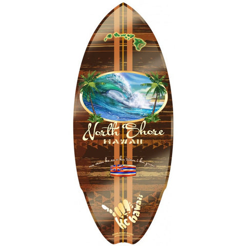 Hawaiian Mini Surfboard Wooden Hawaii North Shore C-Ya Surf Beach Wood Sign