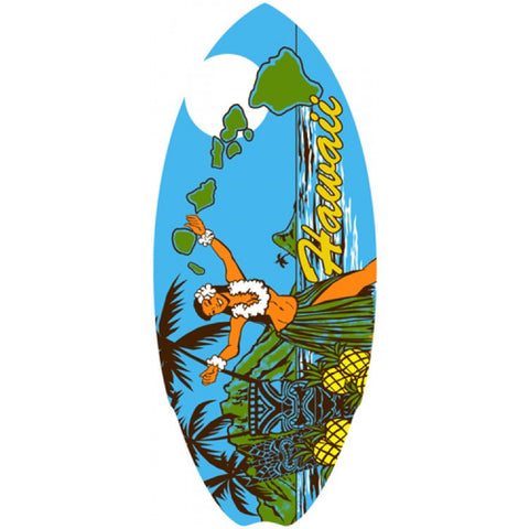 Hawaiian Mini Surfboard Wooden Hawaii Vintage Hula Girl Surf Beach Wood Sign