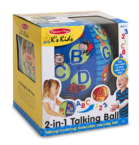 New Educational 2-in-1 Talking Ball Melissa & Doug Stuffed Plush Toy Baby Shower Gift