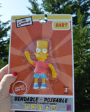 Bart Simpson Bendable Toy 4 Inch from The Simpsons TV Cartoon Animated Series