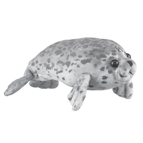 Spotted Harbor Seal Gray Plush Stuffed Animal Toy Wildlife Artists