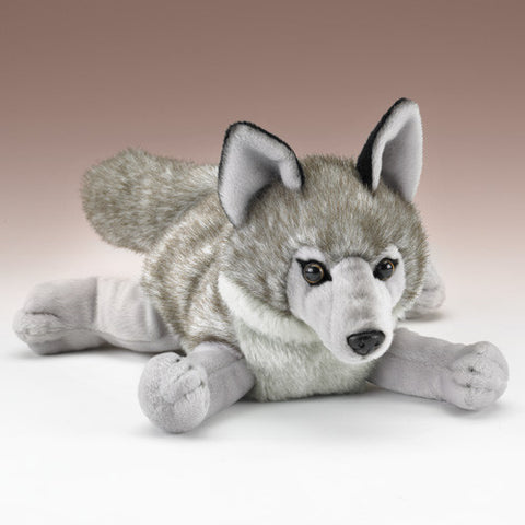 Gray Wolf Plush Stuffed Animal Wild Dog Toy by Wildlife Artists