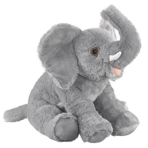 Large African Gray Elephant 23 inch Plush Stuffed Animal Toy by Wildlife Artists