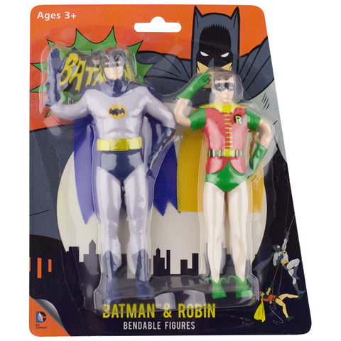 Batman and Robin Bendable Pair Figure Batman Classic TV Series Toy DC Comics