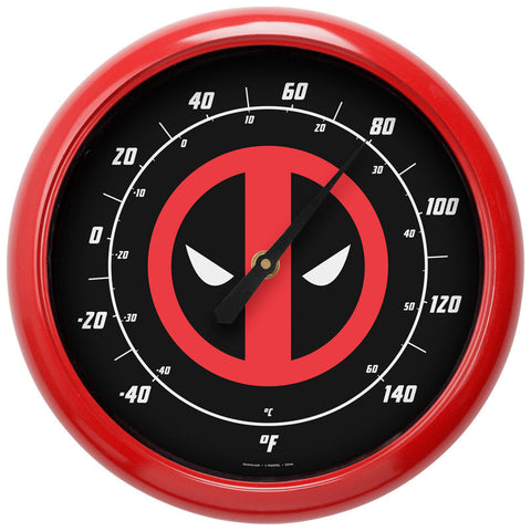 "Deadpool Marvel Thermometer Indoor Outdoor 10"" Novelty Fahrenheit Celsius"