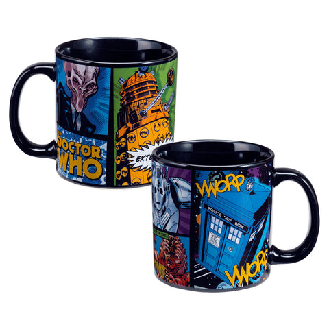 Large 20 Ounce Doctor Who Heavy Ceramic Coffee Mug Modern TV Show Tea Cup Blue Vandor Dr.