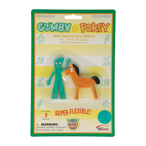 Gumby and Pokey Mini Pair Retro Style Bendable Figures Toys