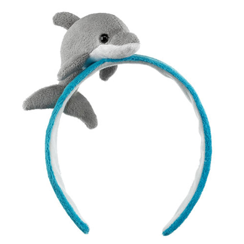 Dolphin Headband Costume Accessory Plush Stuffed Animal Toy by Wild Headbands