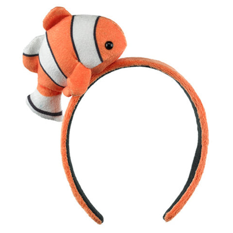 Clownfish Headband Girls Costume Accessory Plush Stuffed Clown Fish Animal Head Band by Wildlife Artists