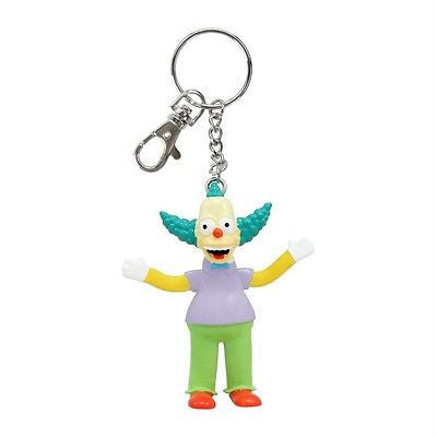 New Krusty the Clown Keychain Bendable Toy Simpsons Keyring Key Chain TV