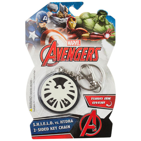 Double-Sided Marvel Avengers Bendable PVC Key Chain Shield Hydra Backpack Clip Keychain