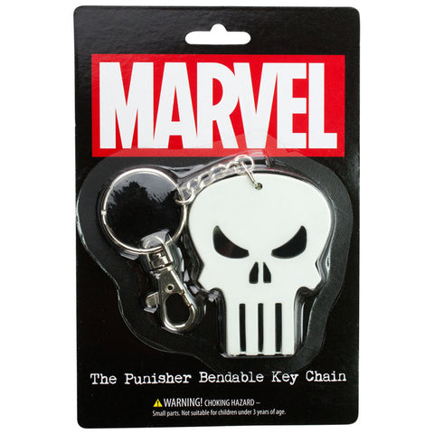 Marvel The Punisher Bendable PVC Key Chain Comics Backpack Clip Keychain