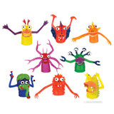 Set of 8 New Colorful Monster Finger Puppets by Accoutrements Puppet Toy XL Toys