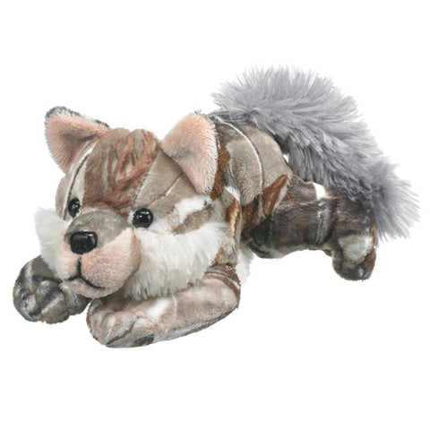 Brown Wolf Plush Camo Realtree AP Patterned Stuffed Toy Small Gray Wild Dog
