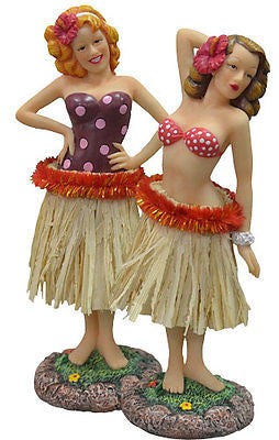1 New Hawaiian 40's Retro Vintage-Styled Hula Pin Up Girl Car Dashboard Doll
