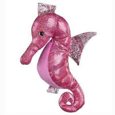 New Hot Pink Seahorse Plush Stuffed Sea Horse Animal Aquatic Toy 10 inch Gift